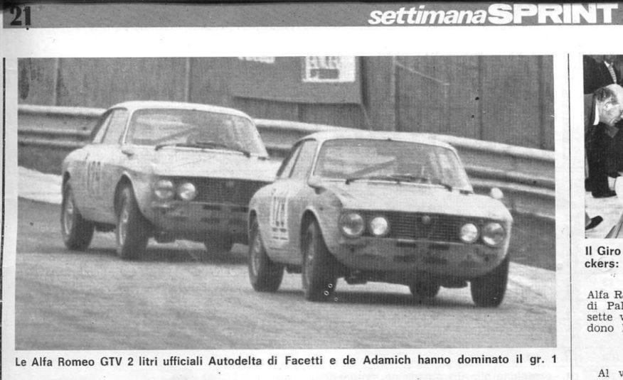 ALFA ROMEO GTV 2000 GRUPPO 1 EX AUTODELTA